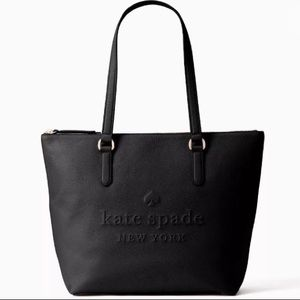 Kate spade larchmont ave Logo black leather tote